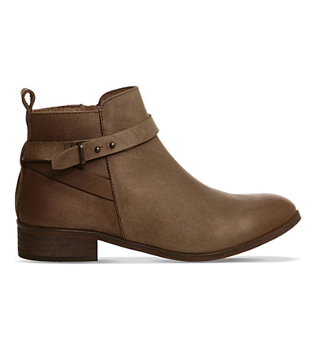 OFFICE Instinct leather ankle boots (Tan+leather