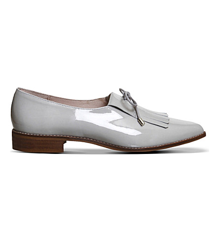 OFFICE Result Kilty patent-leather pumps (Grey patent leather