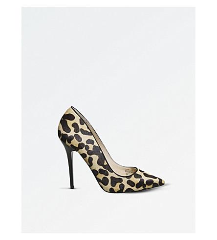 OFFICE On Topss leopard-print court heels (Leopard+pony