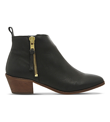 OFFICE Imposter leather ankle boots (Black+leather