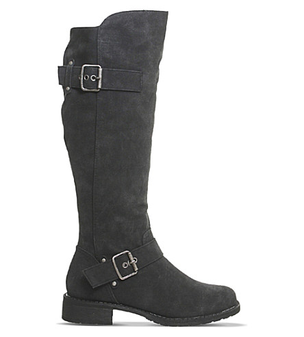 OFFICE Easter over-the-knee boots (Black