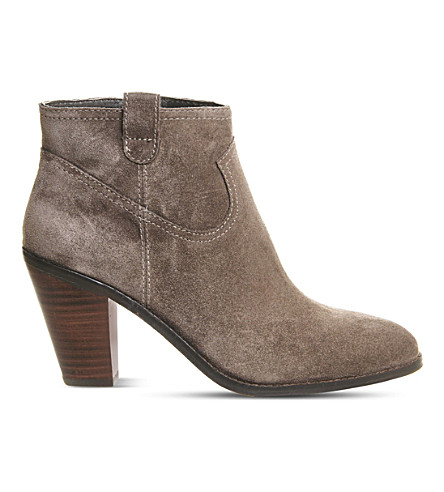 ASH Ivana suede heeled ankle boots (Chestnut+suede