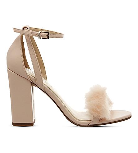 OFFICE Tuffty fluff detail block heel sandals (Nude