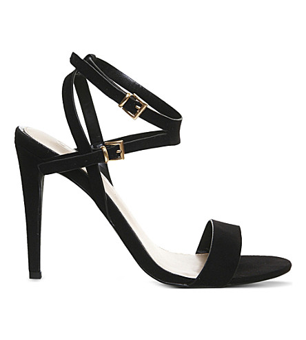 OFFICE Tiny single sole heeled sandals (Black