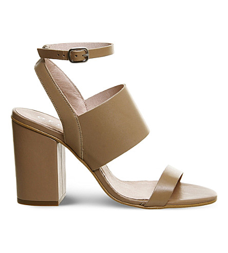 OFFICE Time 3 leather sandals (New+nude+leather