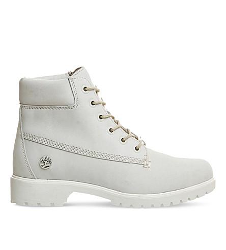 TIMBERLAND Slim Premium leather 6-inch boot (White mono nubuck