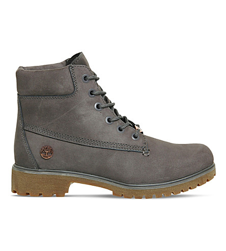 TIMBERLAND Slim 6-inch leather boots (Eiffel tower grey