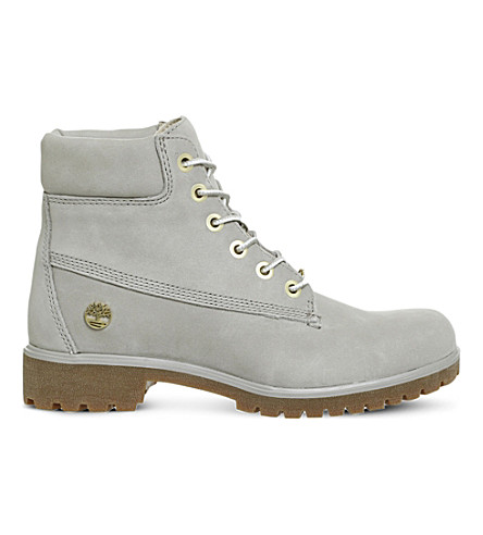 TIMBERLAND Slim 6-inch leather boots (Flint+grey+nubuck