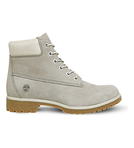 TIMBERLAND Slim premium 6-inch leather boots (Af+grey