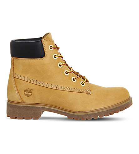 TIMBERLAND Slim premium leather 6-inch boots (Wheat+nubuck