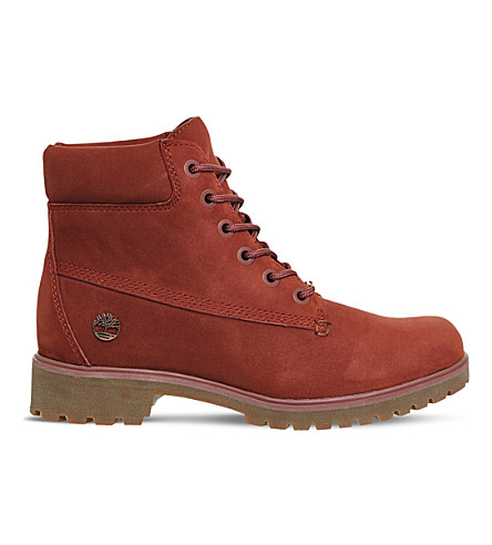 TIMBERLAND Slim 6-inch leather boots (Chestnut+nubuck