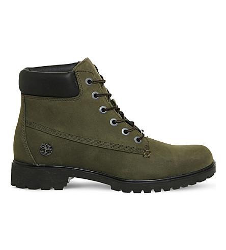 TIMBERLAND Slim Premium nubuck 6-inch boot (Forest night nubuck