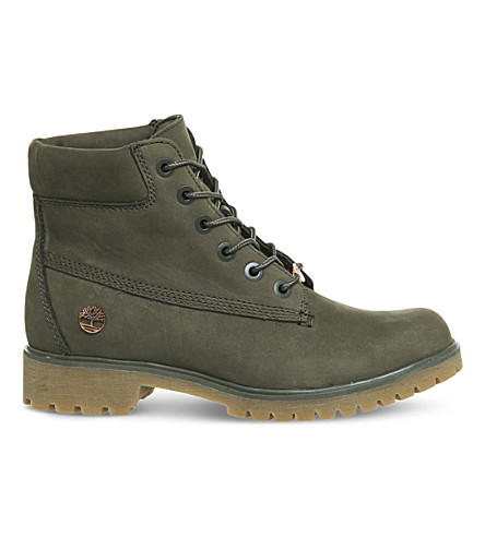 TIMBERLAND Slim 6-inch leather boots (Lichen+nubuck