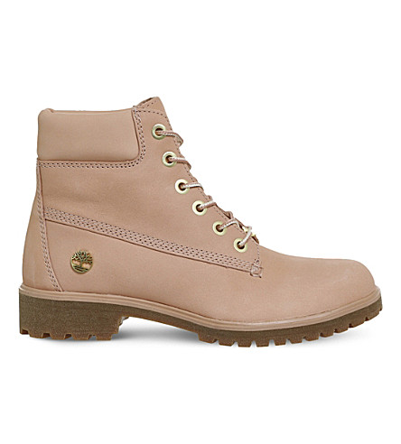 TIMBERLAND Slim Premium 6-inch leather boots (Dusty+pink+nubuck