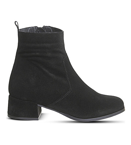 OFFICE Inate suede ankle boots (Black suede