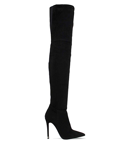 OFFICE Blake suede over-the-knee boots (Black