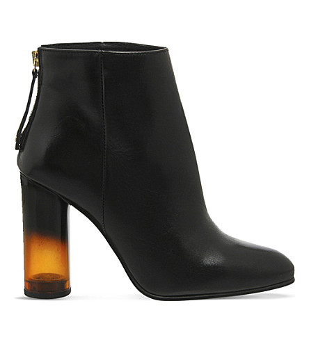 OFFICE Illinois leather heeled boots (Black leather