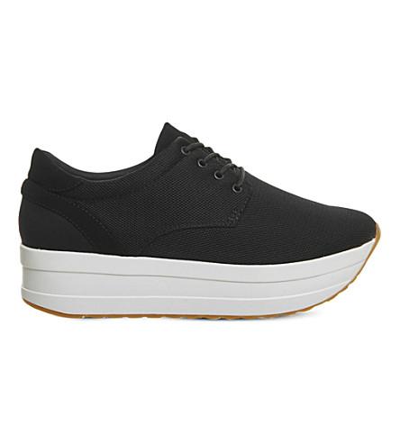 VAGABOND Casey flatform textile sneakers (Black