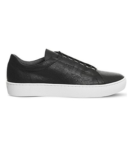 VAGABOND Zoe leather trainers (Black+embossed