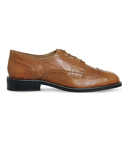 OFFICE Delta leather brogues (Tan leather