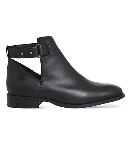 OFFICE Juno suede ankle boots (Black leather