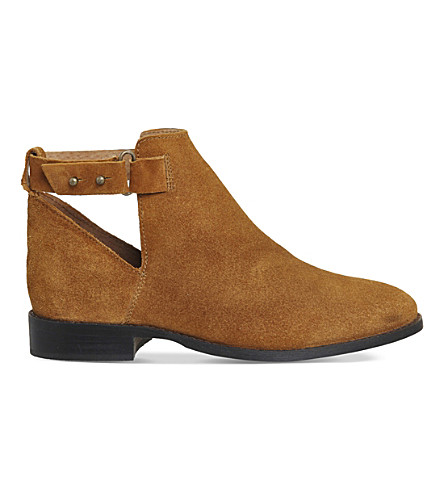 OFFICE Juno suede ankle boots (Tan suede