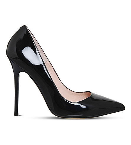 OFFICE Onto patent leather courts (Black+patent