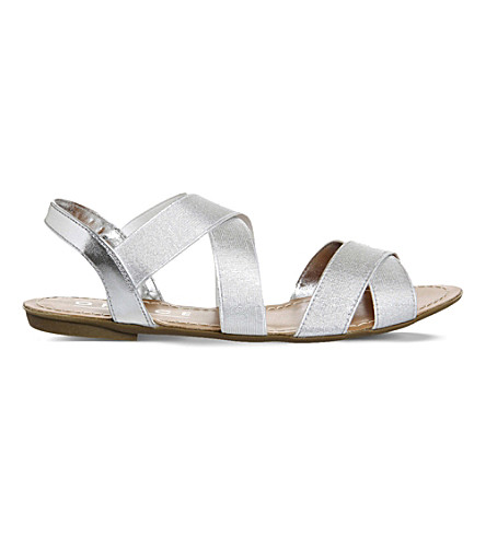... OFFICE Bermuda metallic slingback sandals (Silver. PreviousNext
