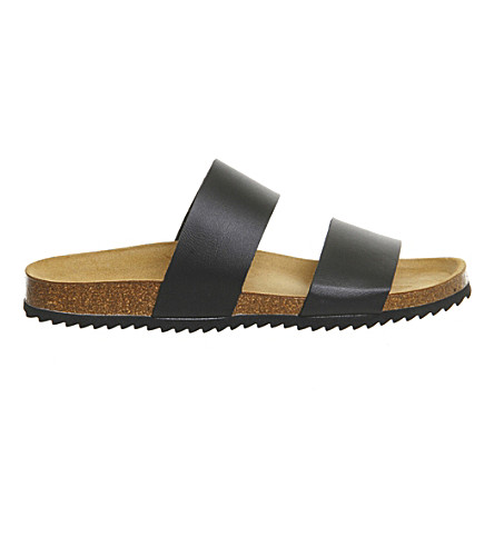 OFFICE Oslo 2 faux-leather sandals (Black