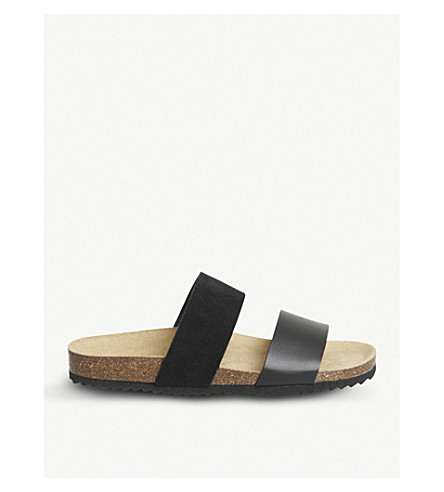 OFFICE Oslo 2 faux-leather slider sandals (Black+mix