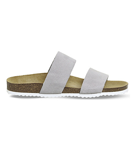 OFFICE Oslo 2 suede sandals (Grey+suede