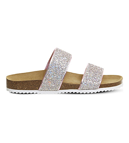 OFFICE Oslo 2 glitter slider sandals (Pink+iridescent