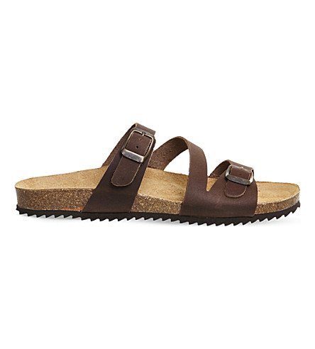OFFICE Bounty leather sandals (Brown+leather