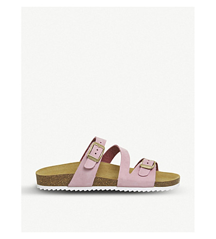 OFFICE Bounty leather sandals (Pink+nubuck