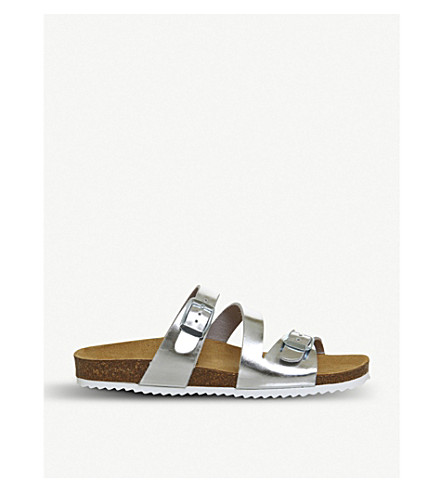 OFFICE Bounty metallic faux-leather sandals (Silver