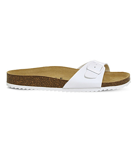 OFFICE Icon 2 faux-leather sandals (White