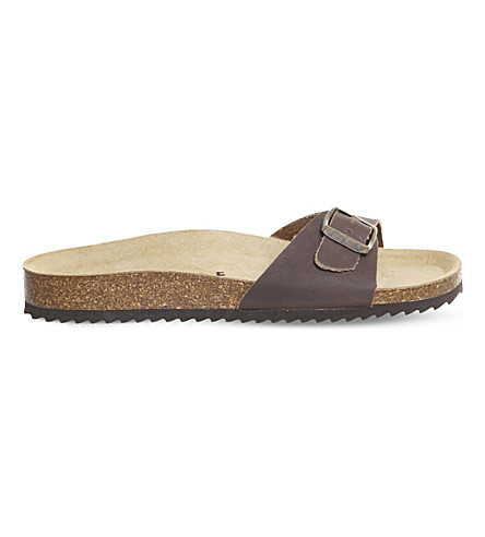 OFFICE Icon 2 faux-leather sandals (Brown+leather