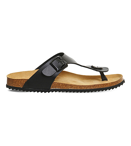 OFFICE Identity 2 leather flat sandals (Black
