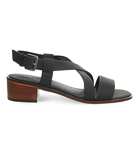 OFFICE Midtown cross-over heeled sandals (Black