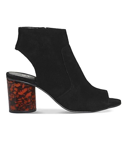 OFFICE 马利麂皮绒靴 (黑 + 麂皮绒