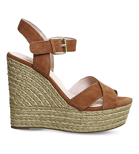 OFFICE Ahoy suede wedge sandals (Tan+suede