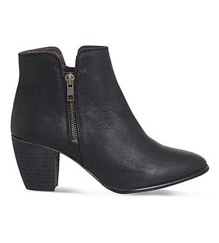 OFFICE Justine leather ankle boots (Black+leather