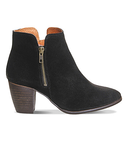 OFFICE Justine suede ankle boots (Black+suede