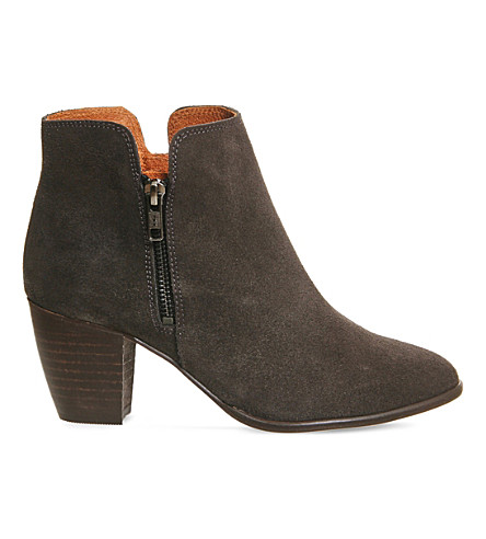 OFFICE Justine suede ankle boots (Dark grey suede