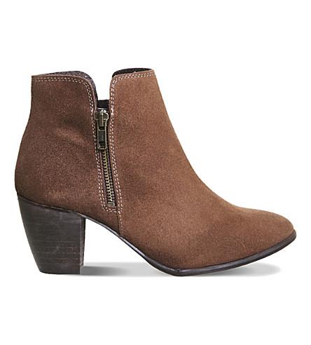OFFICE Justine suede ankle boots (Dark mink suede