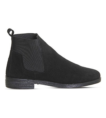 OFFICE Jamie suede Chelsea boots (Black+suede