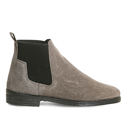 OFFICE Jamie suede Chelsea boots (Grey+suede