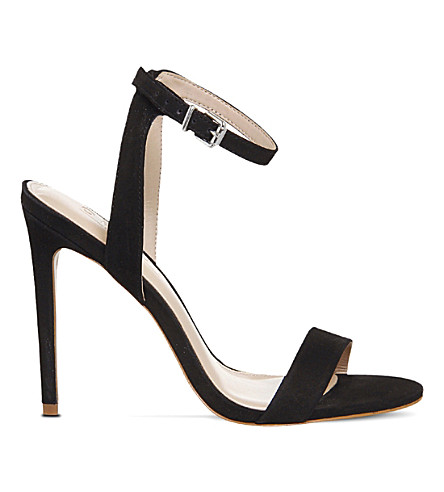 OFFICE Alana leather heeled sandals (Black+nubuck