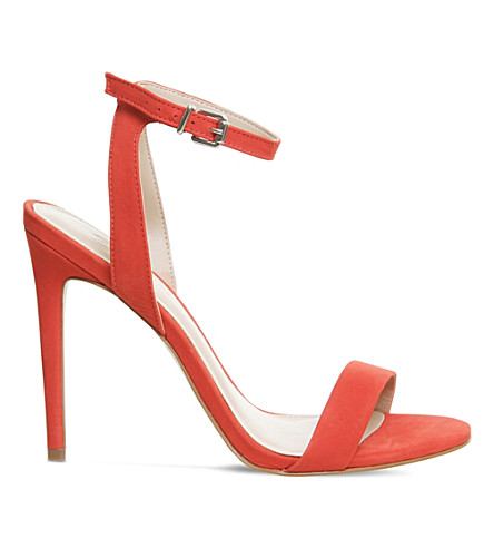OFFICE Alana single sole sandal (Red+nubuck