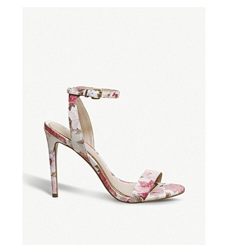 OFFICE Alana floral leather heeled sandals (Floral+leather